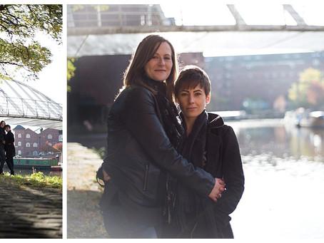 Amanda & Julie Engagement Photo Shoot at Castlefield, Manchester