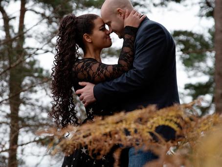 Engagement photo shoot in Alderley Park, Cheshier