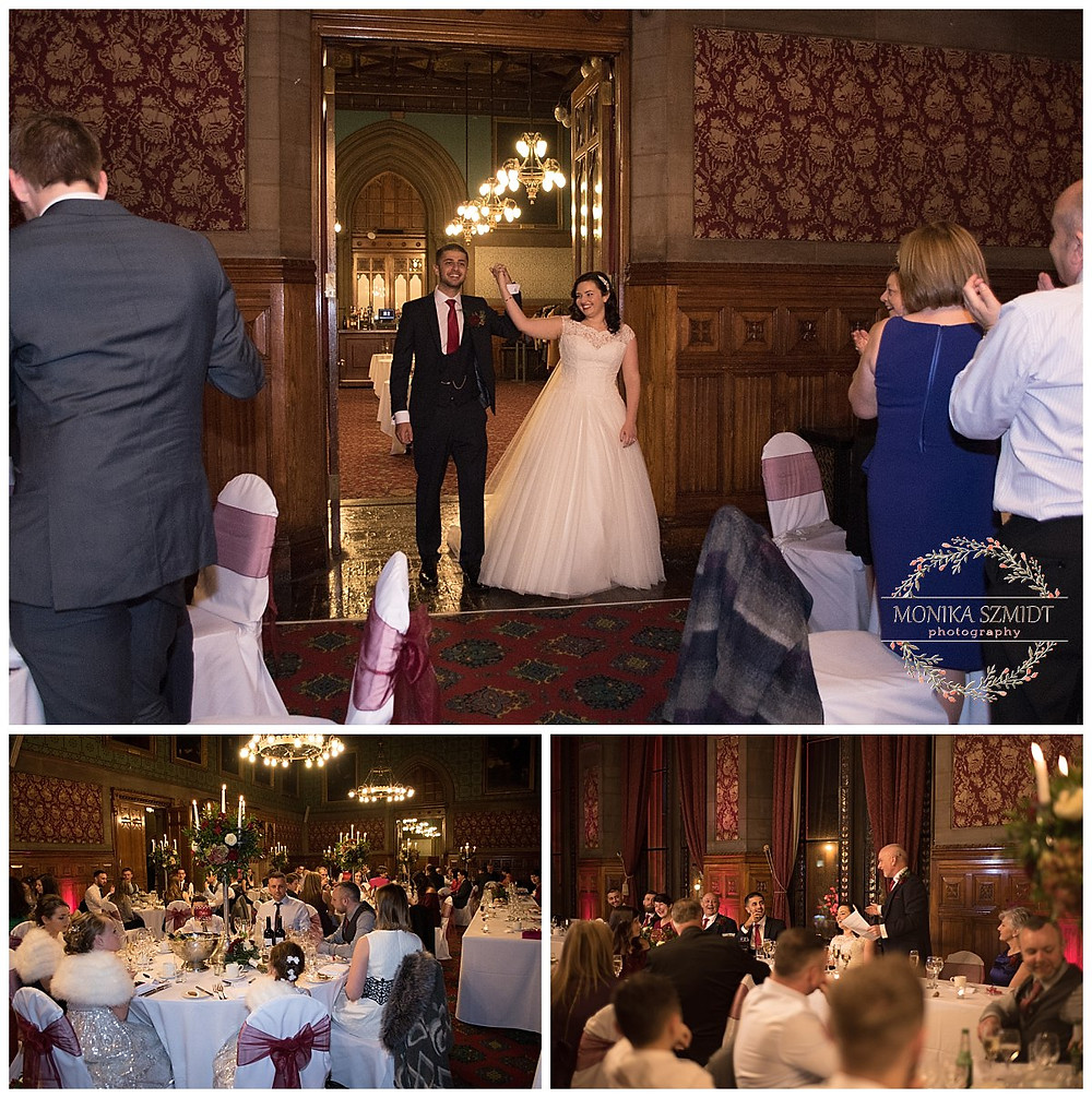 wedding reception at Manchester Town Hall