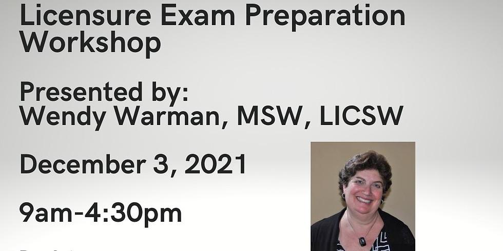 Licensure Exam Preparation Workshop 12.3.21