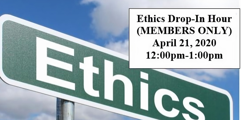 Ethics Drop-In Hour (MEMBERS ONLY)