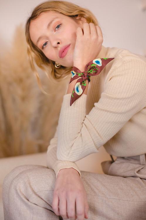【Petitjean Paris】Bracelet en soie Anémones