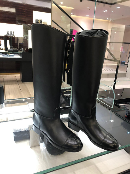 【CHANEL】HIGH BOOTS VEAU LISSE