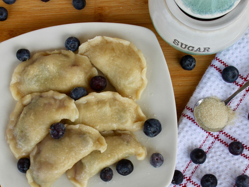 Blueberry Dumplings (vareniki)