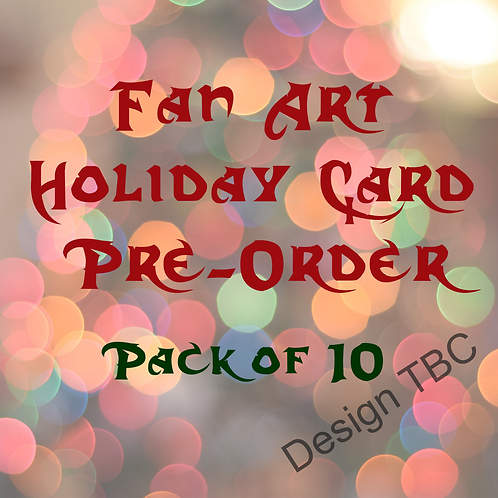 Holiday Card Pre-order Pack of 10 Cards