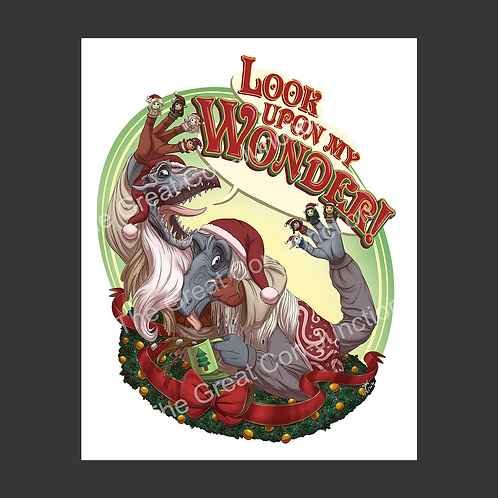 Fan Art Holiday Card 'Look Upon My Wonder' Pack of 5