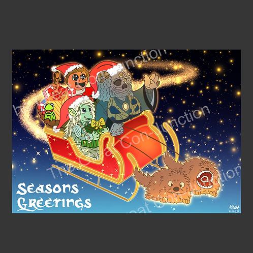 Fan Art Holiday Card 'Season's Greetings' Pack of 5