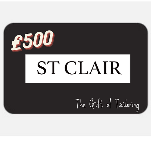 St Clair Suits Gift Card - £500