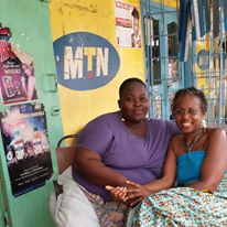 Assata with women in Ghana