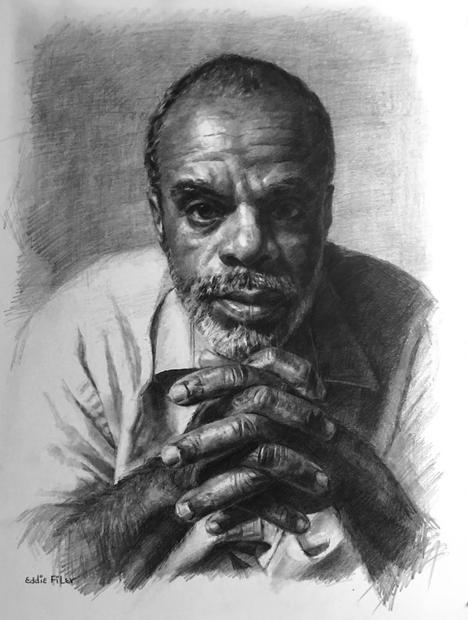 Self-Portrait, 11x14 graphite on paper