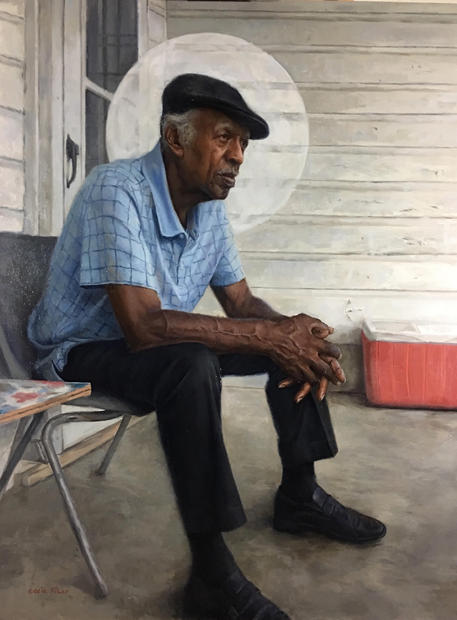 Eddie Filer Sr, 30x 40 oil on linen