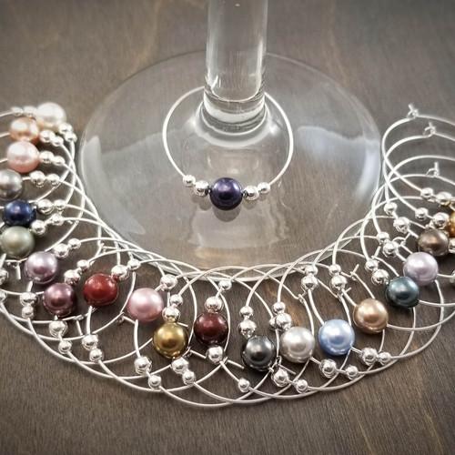 22 Colors Of Silver Swarovski Pearl Wine Gl Charms By Rhiannon Corvin Blackburn Spirit