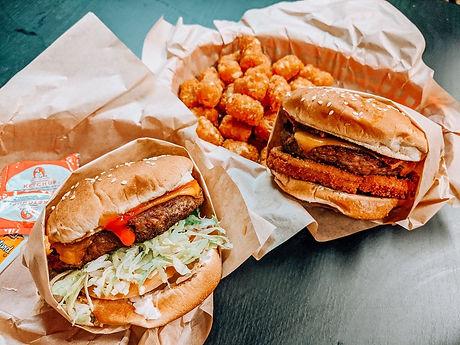 Nice Burger and Western BBQ Cheeseburger