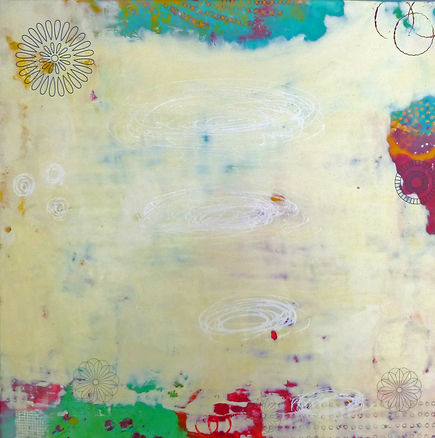 Encaustic painting, encaustic, wax, wax painting, abstract painting