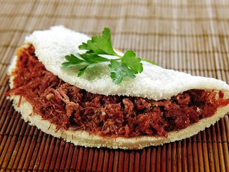 Tapioca com Carne Seca para sua Festa Junina