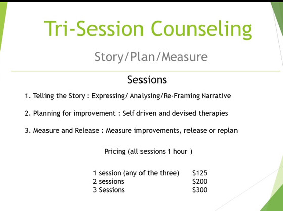 Make a break-through not have a break-down - Tri session counseling.