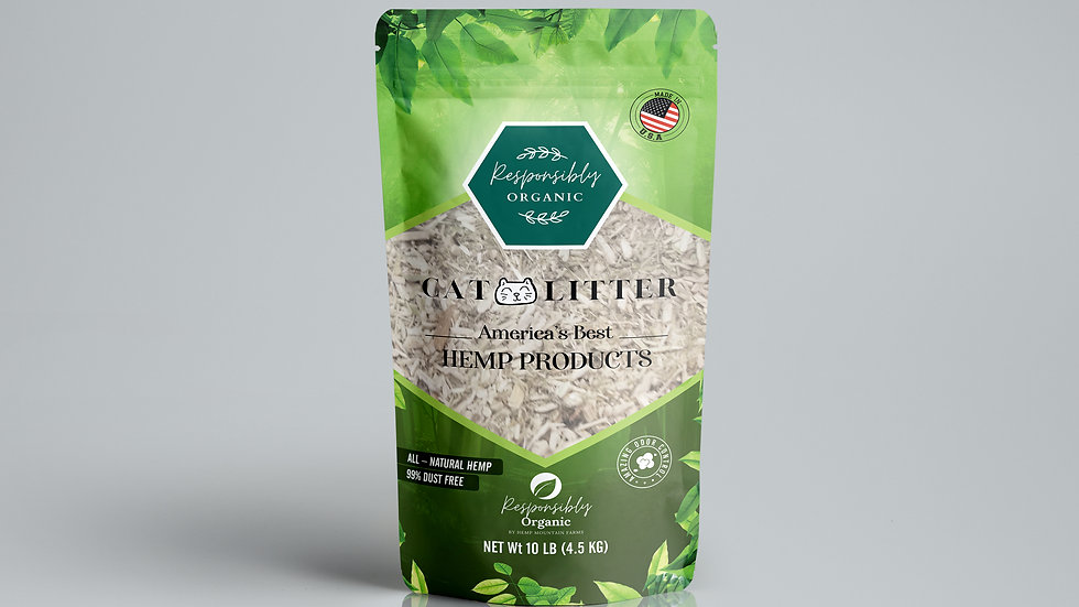 Hemp Cat Litter Responsibly Organic