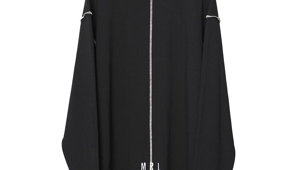 Black Roomy Jersey Shirt