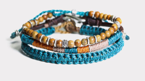 Men's 3 Bracelet Set – Turquoise