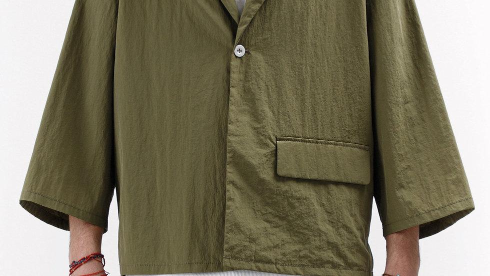 Khaki Stroller Cropped Jacket