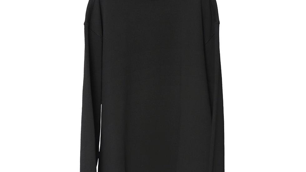 Black Kayan Oversize Turtleneck Sweat Shirt