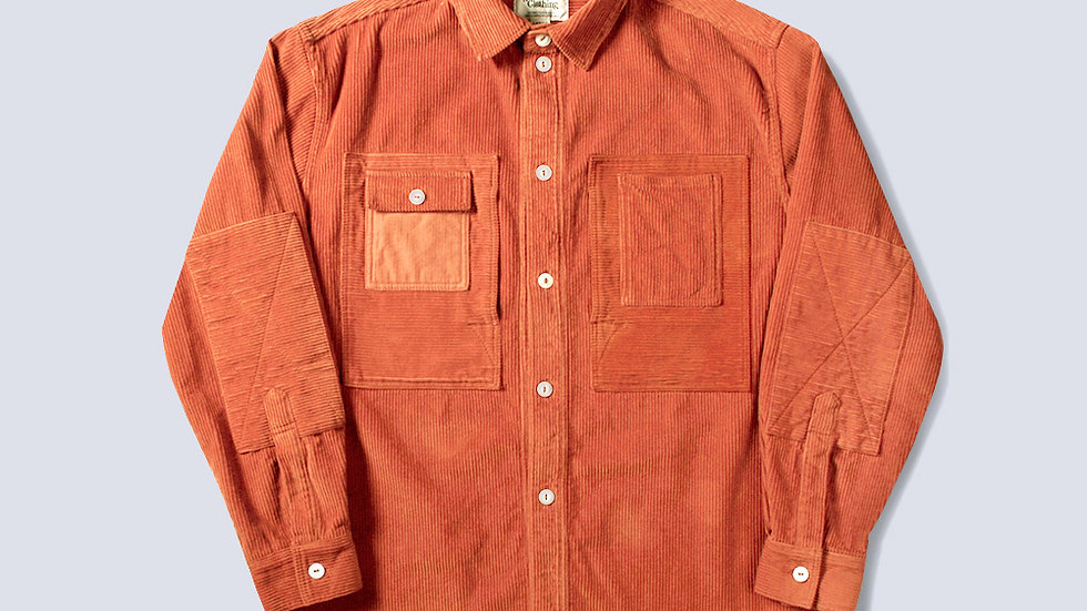Corduroy Utility Shirts Orange