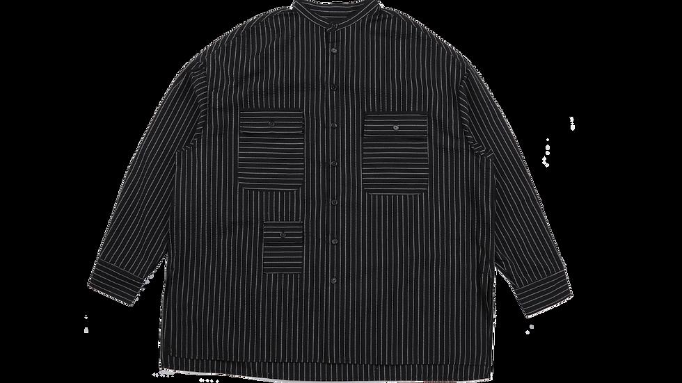 Stripe Tri Pocket Seersucker Shit