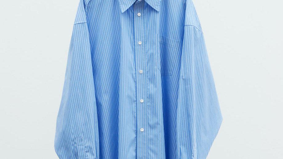 Finx Cotton Extra Wide Shirt (Blue Stripe)