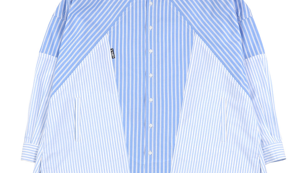 Cross Mixed Stripe Shirt