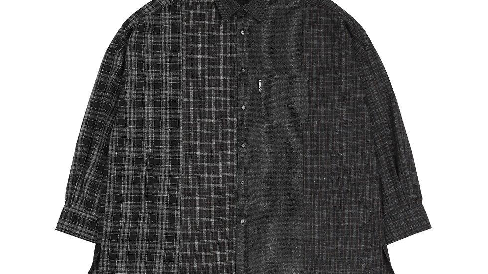 Oversized Check Mixed Shirt