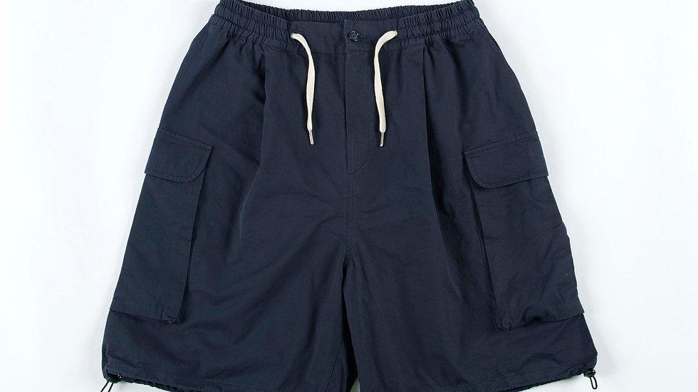 Wide Cargo Pants ( Dark Navy)