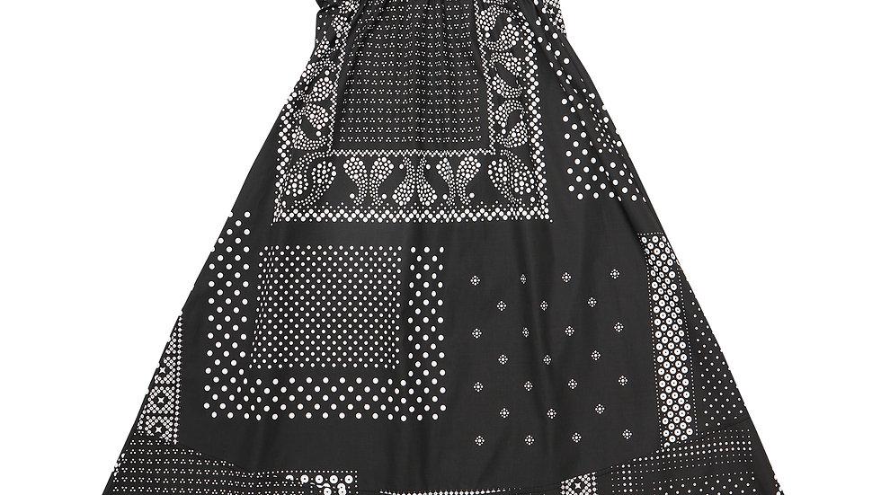 Dot Bandana Salopette Skirt - BK