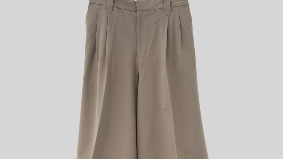 Wide Short Slacks (Greige)