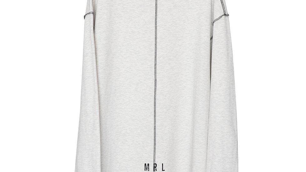 Beige Melange Roomy Jersey Shirt