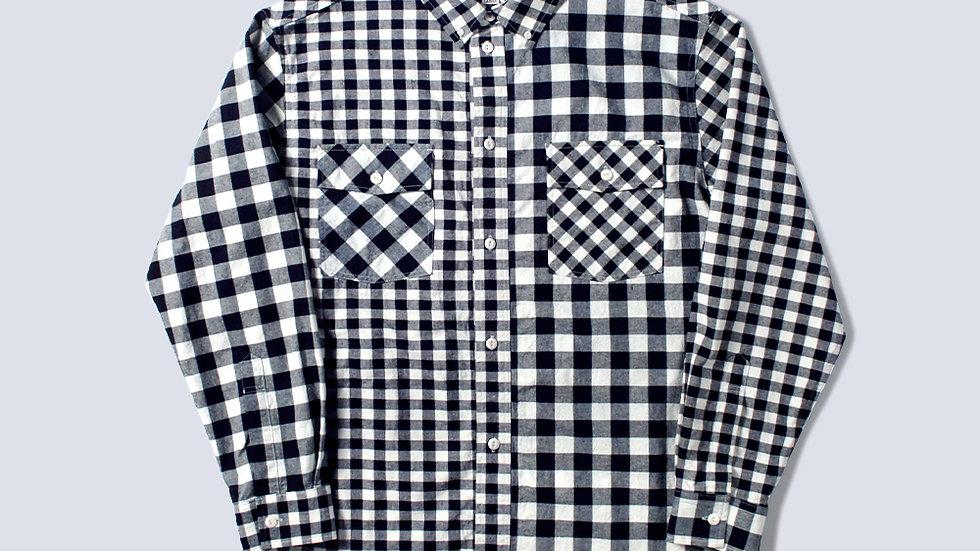 Bluer Check Mix Shirts Navy