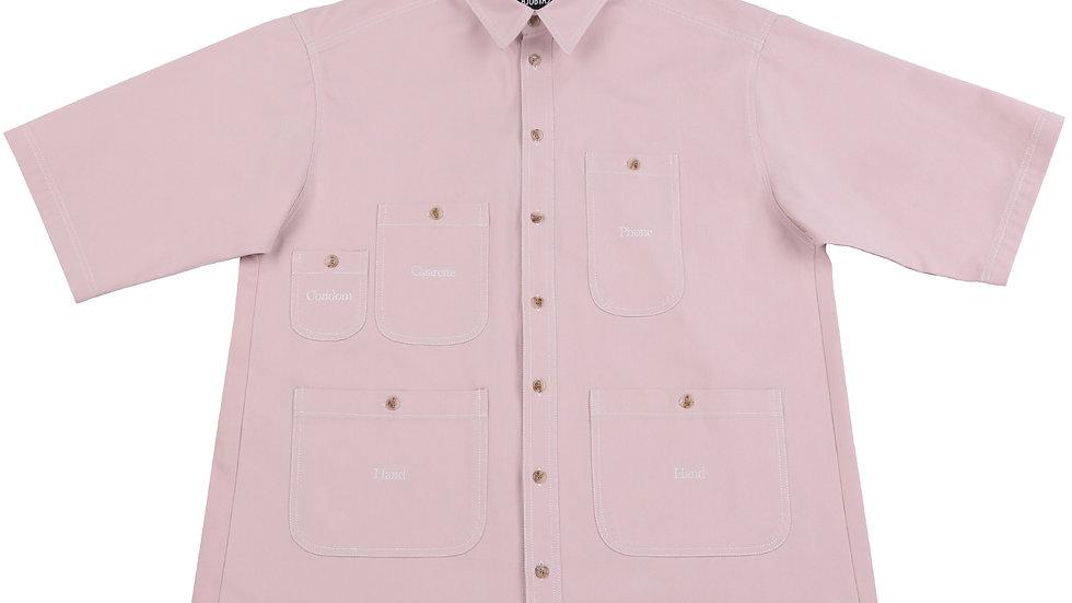 Oversized Purposeful Pocket Shirt