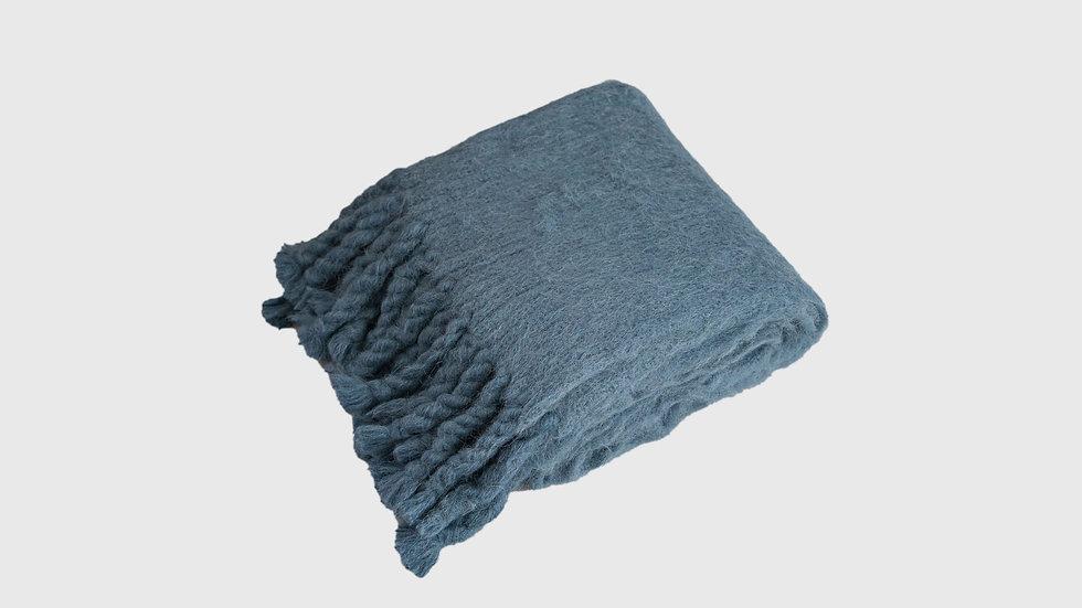 Alpaca Wool Big Stole (Ash Blue)