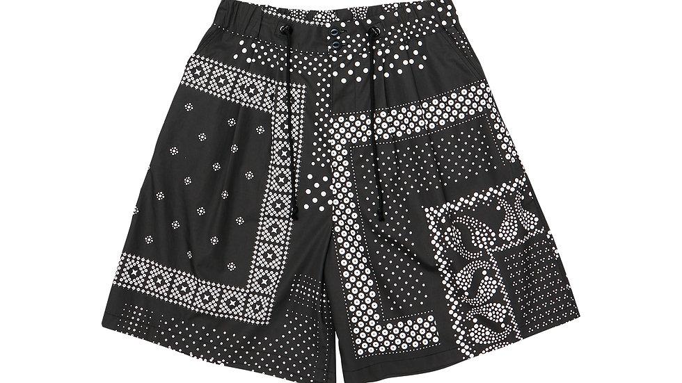Dot Bandana Wide Shorts - BK
