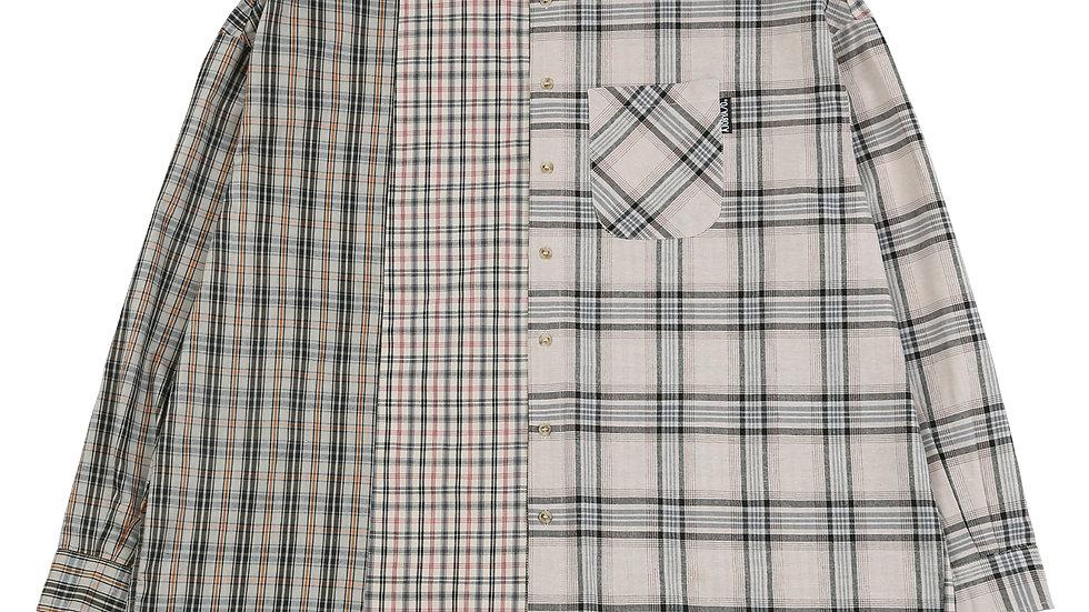 Over Check Mixed Shirt