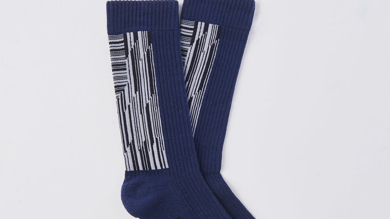 Grey Navy - Landing Socks