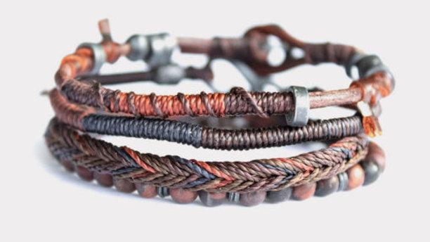 Earth Bracelet – Men – Brown