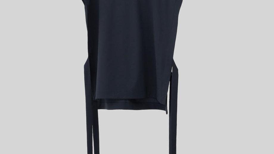 String Pullover Vest (Navy)