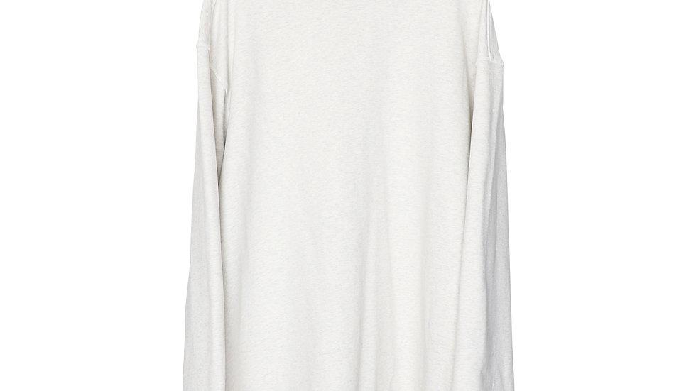 Beige Melange Kayan Oversize Turtleneck Sweat Shirt