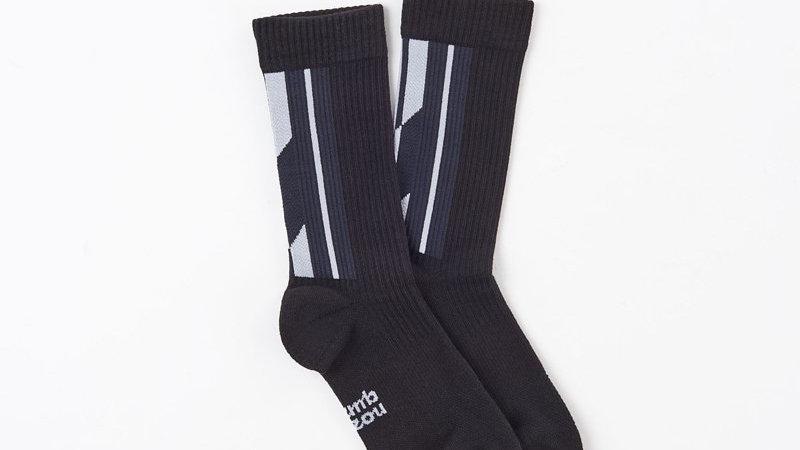 Silver Black - LANDING R Socks