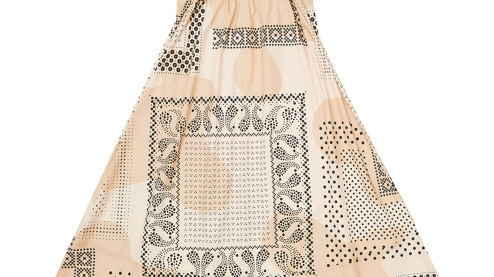 Dot Bandana Salopette Skirt - BG
