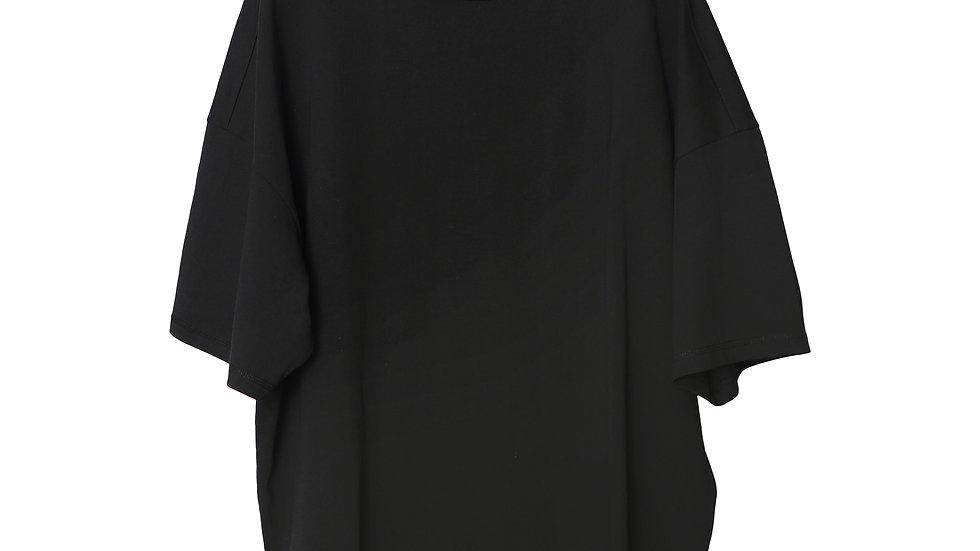 Black Kayan Mockneck T-Shirt