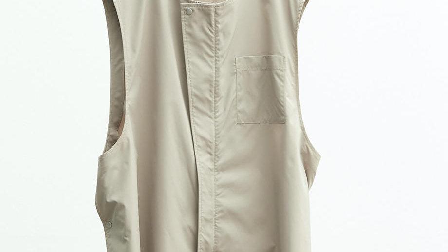 Solotex®✕Ecopet® Nocollar Fly Front Vest (Beige)