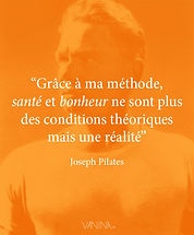 Sensations Pilates citation Joseph Pilates