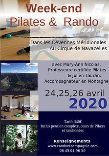 Affiche pilates et rando avril 2020 - JP