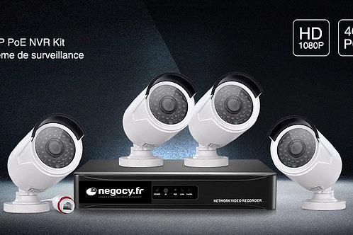 Ensemble de 4 caméras de vidéosurveillance